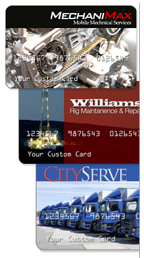 how about having your company name and logo on your fuel credit card and how about offering these cards to your employees as a company perk - Personalized Credit Cards